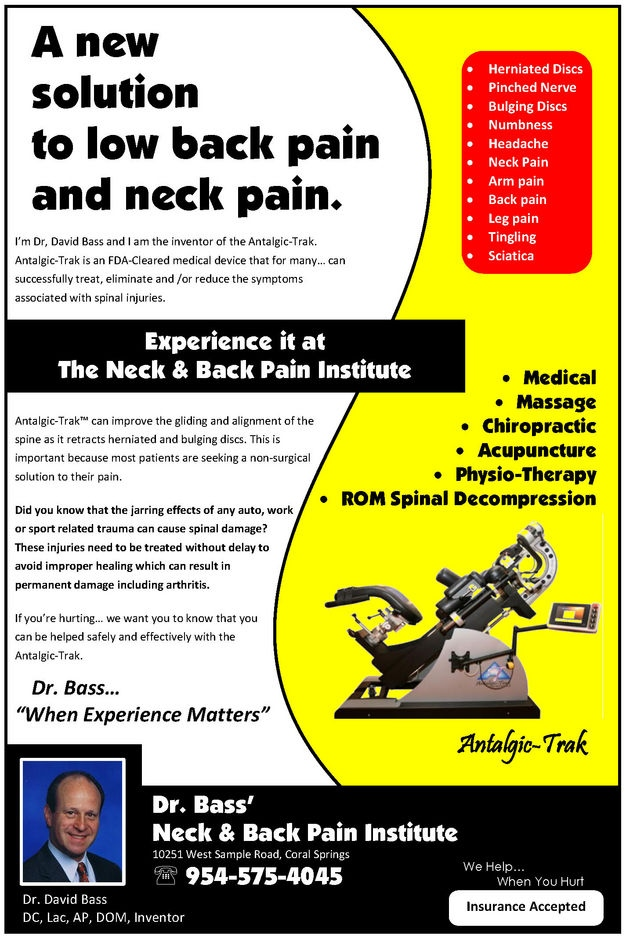 A New Solution to Low Back Pain and Neck Pain